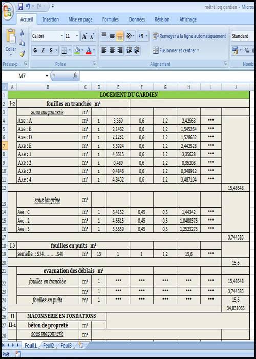 Devis quantitatif et estimatif pour un Logement - Génie ...
