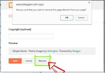 Eliminar Powered By Blogger Attribution