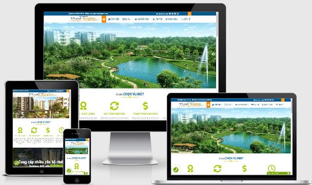 Template blogspot nhà đất Vland cực đẹp và Chuẩn SEO 2019