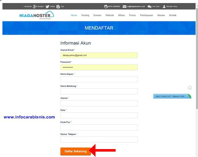 Cara Mendaftar Program Bisnis Afiliasi Niaga Hoster