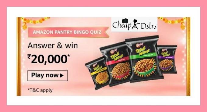 Amazon Pantry Bingo Quiz Answers – Win Rs.20,000