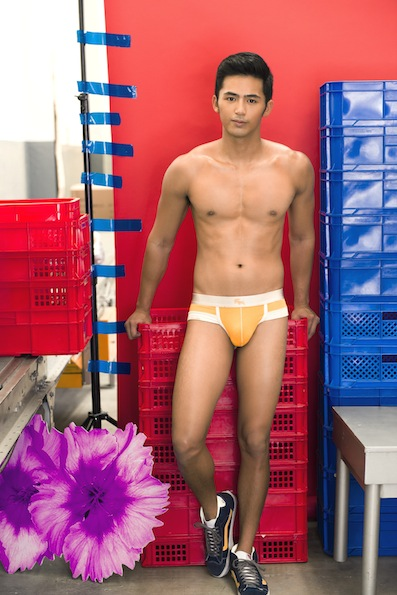 Enzo Pineda Shirtless for Bench Body Underwear