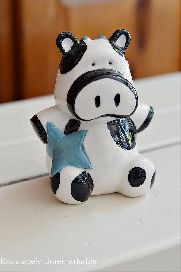 Ceramic Cow Piggy Bank