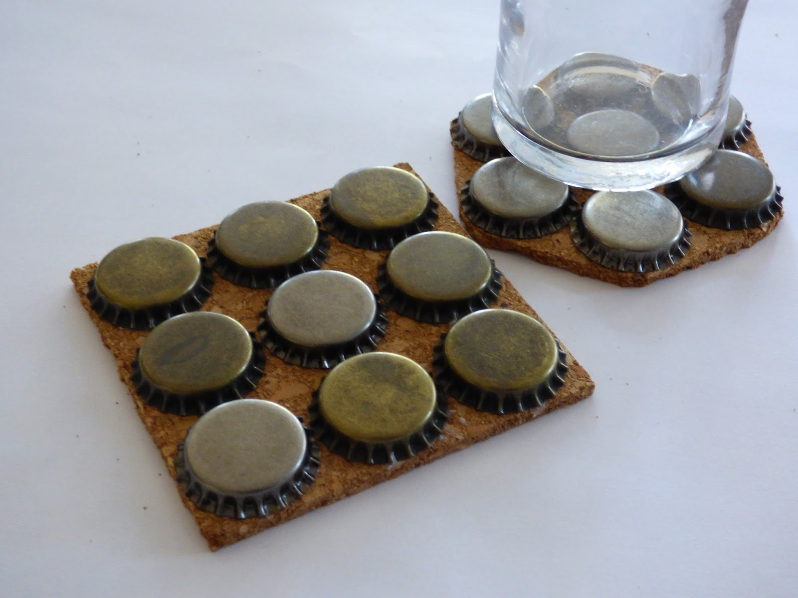 Simply wright diy bottle cap coasters for How to use bottle caps