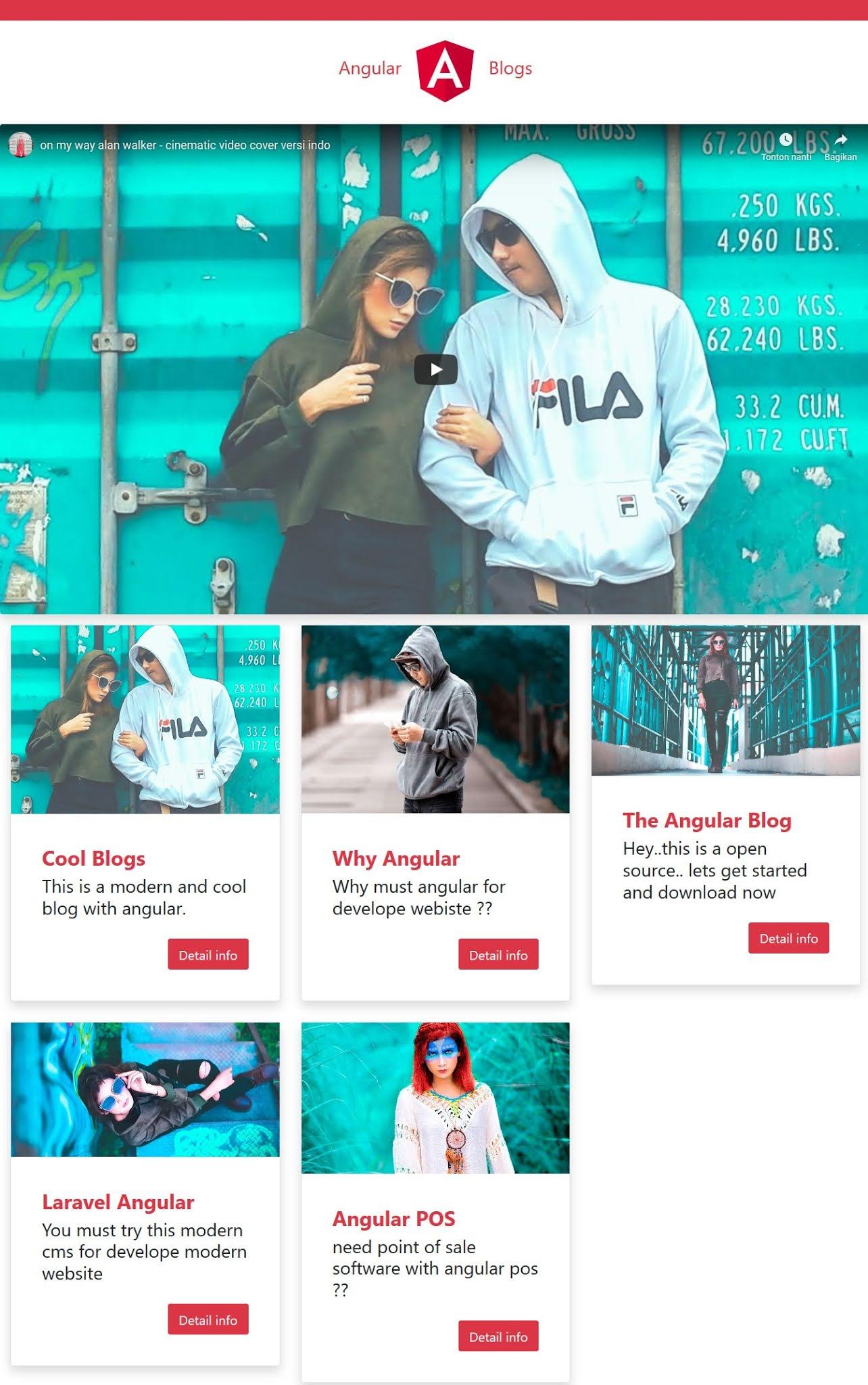 pembuatan website terbaru modern dengan angular