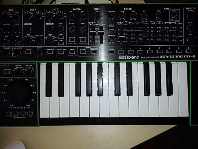 Matrixsynth Custom Blue Roland Aira System 1