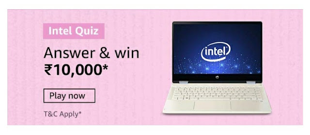 Intel Laptop Quiz answer and win