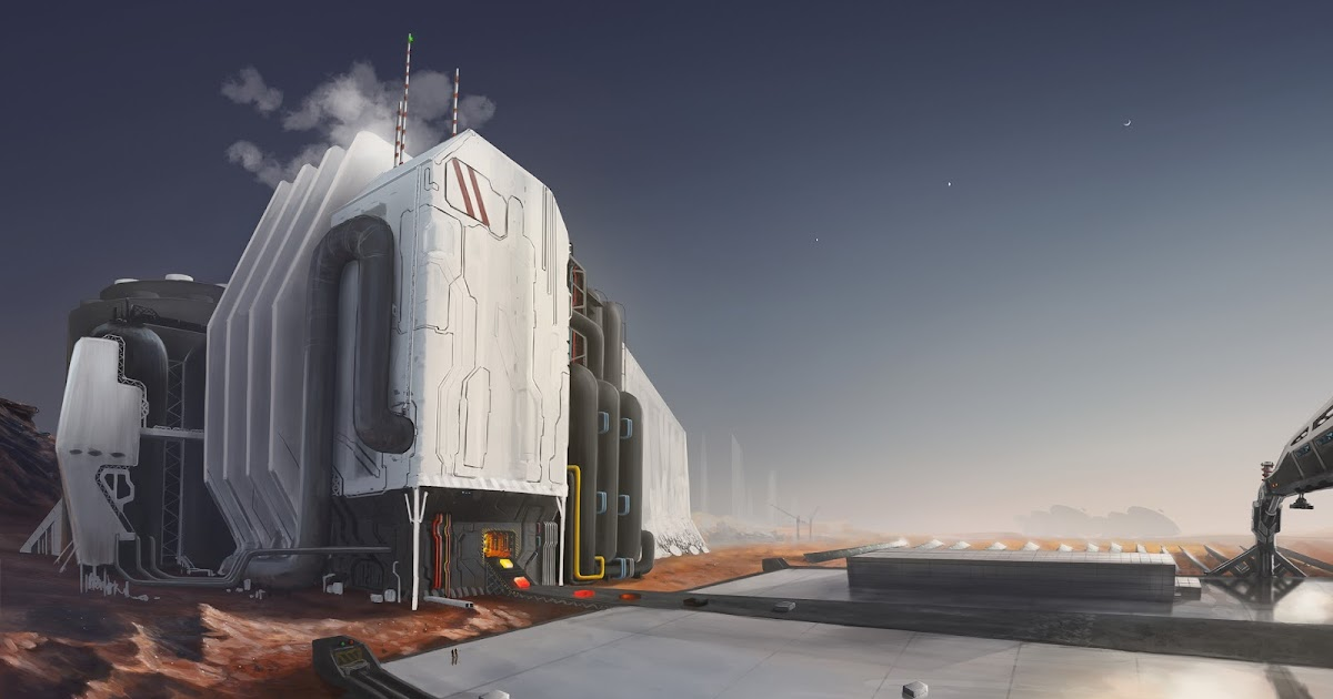 Steel factory on Mars by Dmitrii Ustinov