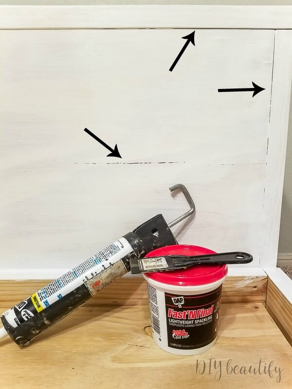 fill cracks with caulk