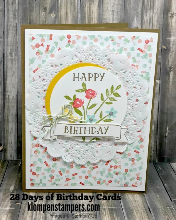 28 Days Of Birthday Cards -- Day #21