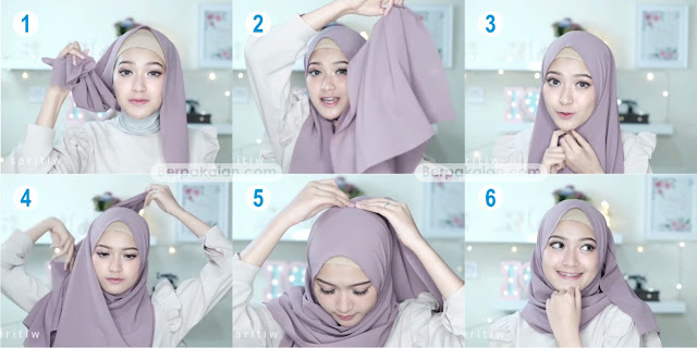 Style Ketiga Tutorial Hijab Pasmina Simple