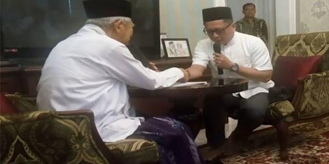 Masuk Islam, Presenter Tio Nugroho Ucapkan Syahadat Dituntun KH Ma'ruf Amin