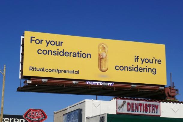 For your consideratio Ritual prenatal billboard