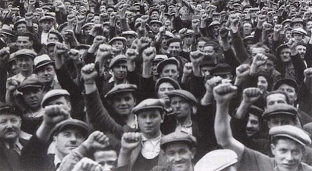 Obreros. Segunda República Española.