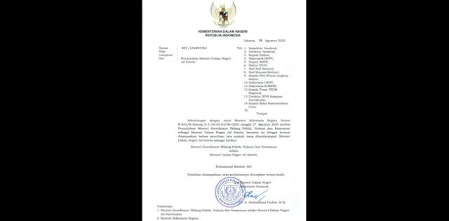 Mahfud Gantikan Tito Sebagai Mendagri Ad Interim, Belum Ada Penjelasan Detail