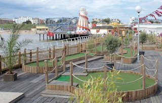 Adventure Golf course on Clacton Pier
