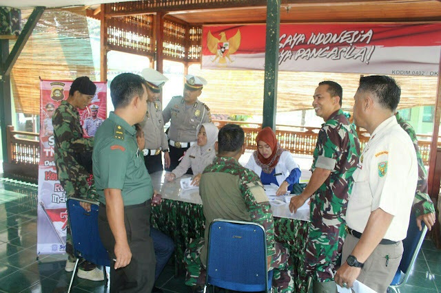 Satlantas OKI Adakan SIM Kolektif untuk TNI