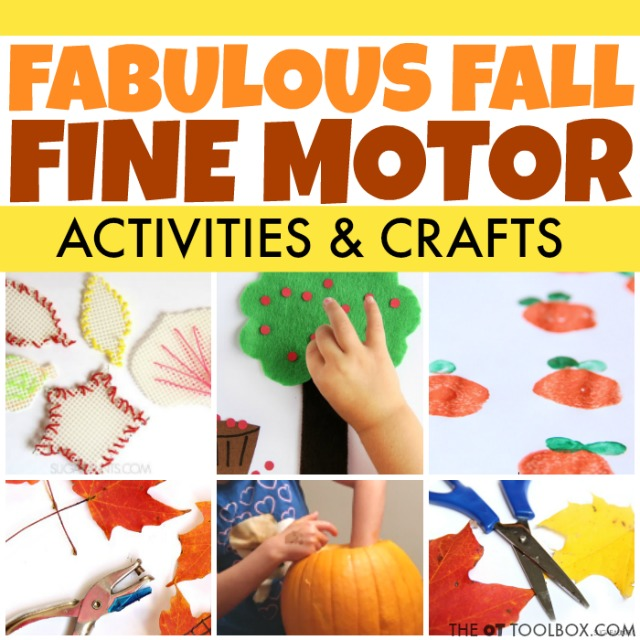 Get the kids building fine motor skills with these fall fine motor activities like fall leaves, fall crafts and other fall fine motor ideas!