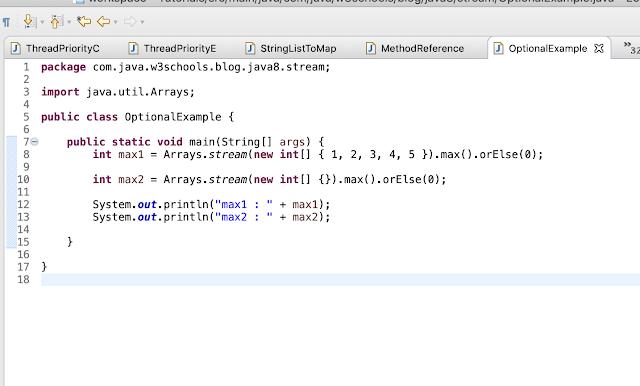 JAVA 8 optional example