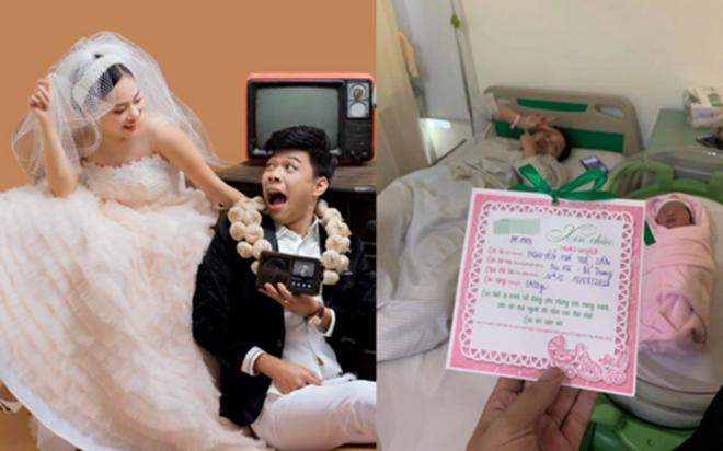 Diễn viên Trung Ruồi hạnh phúc đón con gái đầu lòng, dàn sao Việt gửi lời chúc mừng
