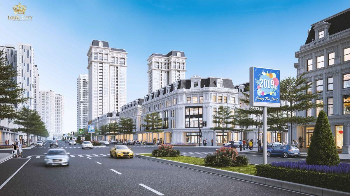 Phối cảnh nhà phố Louis City Hoàng Mai