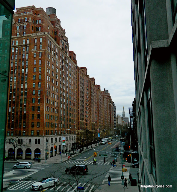 Rua 23, em Chelsea, vista do parque High Line, Nova York