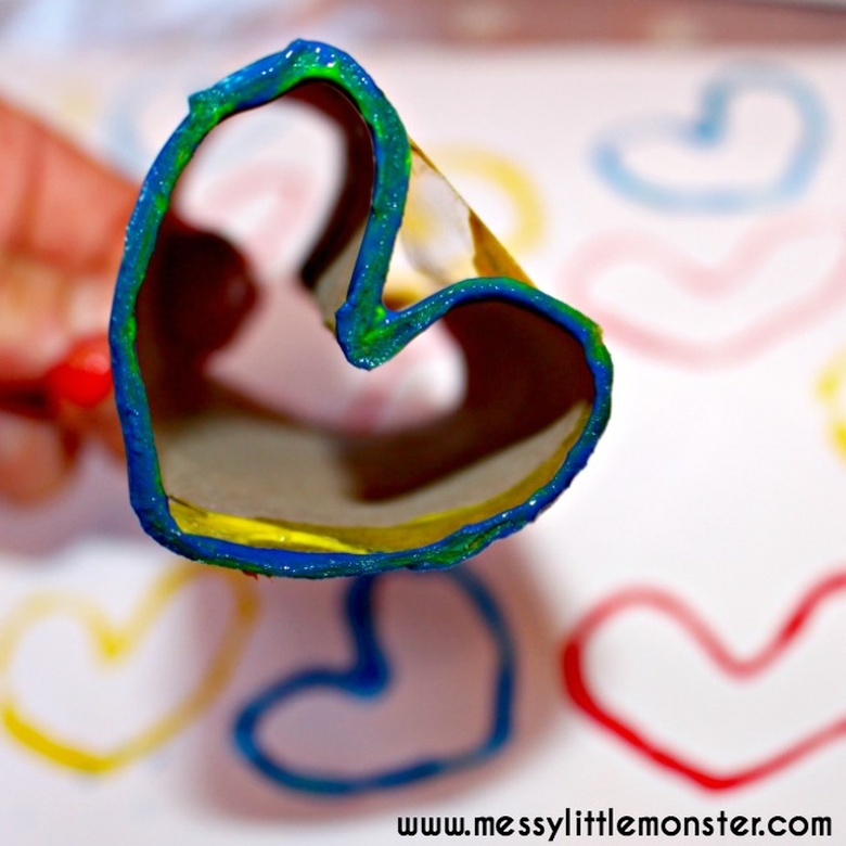 heart painting diy heart stamp craft