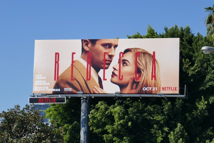 Rebecca Netflix remake billboard
