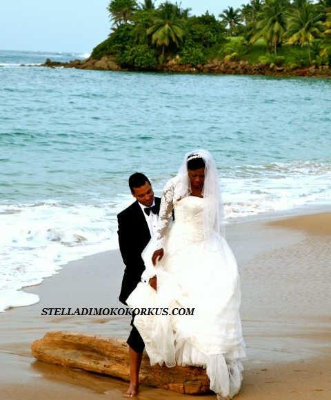 Wedding Pics Of Actress Uche Jombo Rodriguez And Hubby Kenney