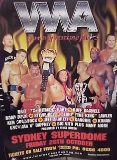 WWA The Inception 2001 - Event poster