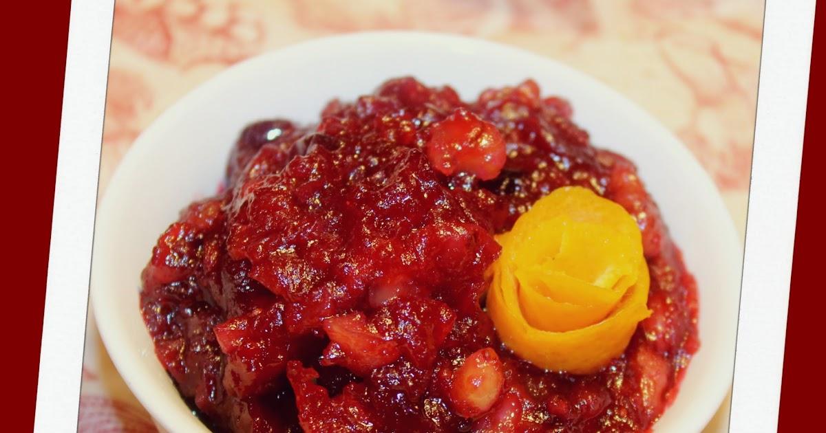 The Chicken Chick®: Tipsy Orange Walnut Cranberry Relish ...