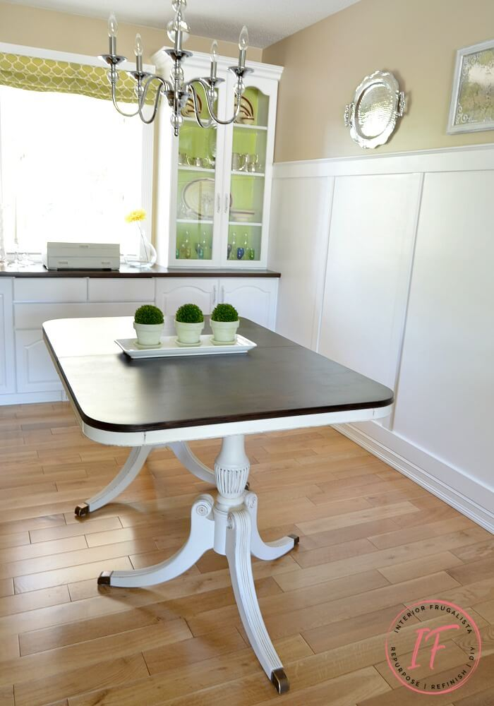 Duncan Phyfe Dining Table Makeover After