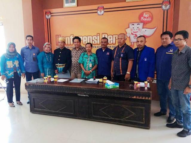 DPD Partai Nasdem, Resmi Serahkan Berkas Parpol Ke KPU Selayar