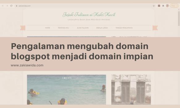 Pengalaman mengubah domain blogspot