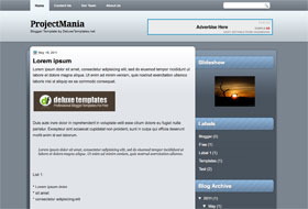 ProjectMania Blogger Template