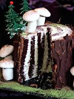 świąteczny tort pień