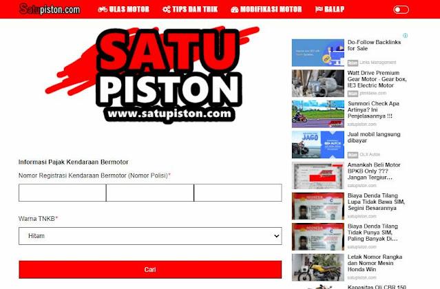 Cek Pajak Motor Online Jawa Barat, Berikut 3 Pilihan Caranya