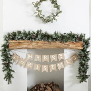 Simplistic Holiday Decor for Mantel