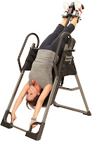 Angle adjustable up to full 180 degrees vertical inversion on Ironman Gravity 3000 Inversion Table