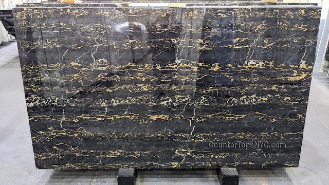 Nero Portoro Natural Stone Black Marble Slab