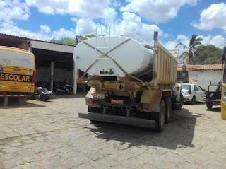 Prefeitura de Picuí recupera tanque de pipa para auxílio no abastecimento de água