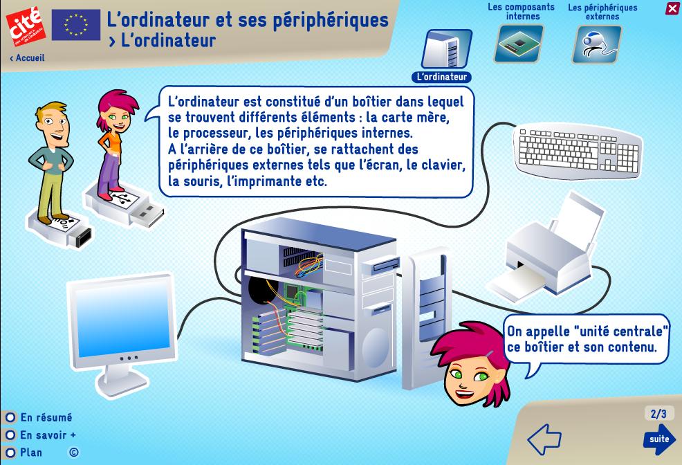 Ideal MEDIATION NUMERIQUE DU MIGNON: l'ordinateur et ses périphériques RG33