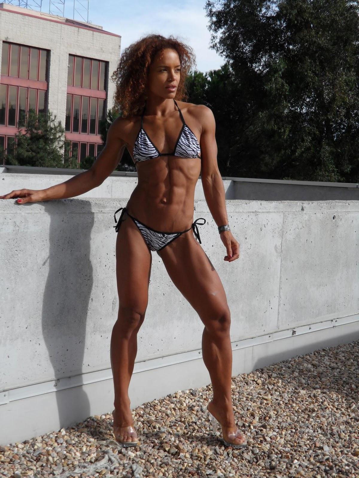 Ass fit muscular busty women