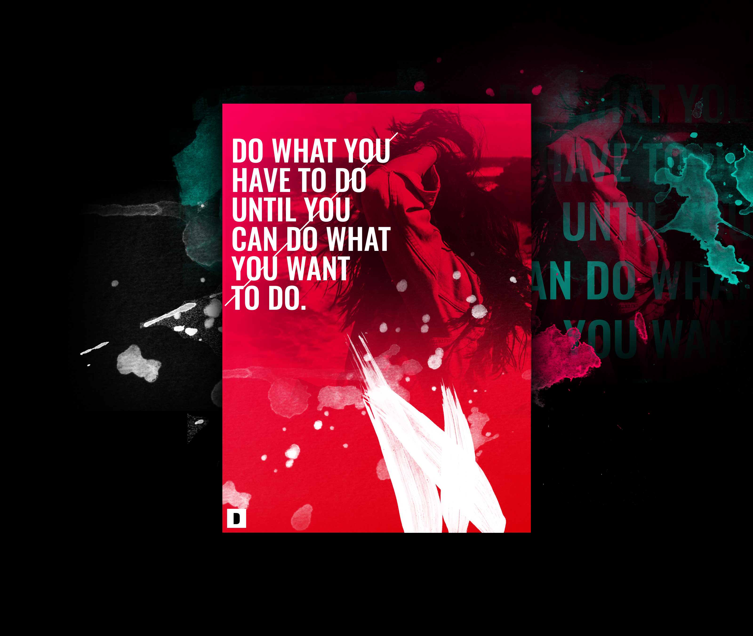 Do what you want, Popular quotes, Poster, HD, Typography