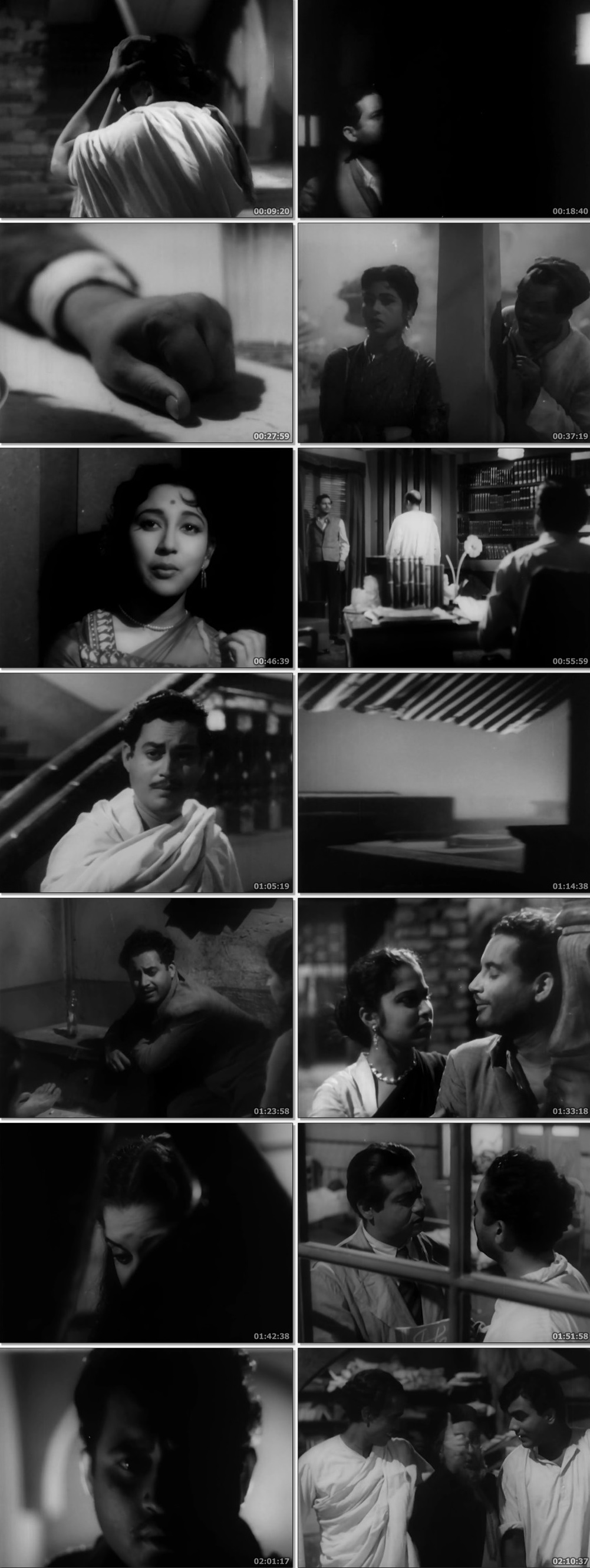 Screen Shot Of Pyaasa 1957 300MB HDRip 480P Full Hindi Movie Watch Online Free Download
