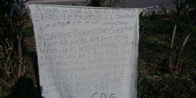 """El Cártel del Golfo deja narcomanta en Cancún """"Ya salimos para ajustar cuentas y abrir a la verg.. a quien abrió el hocico"""""""