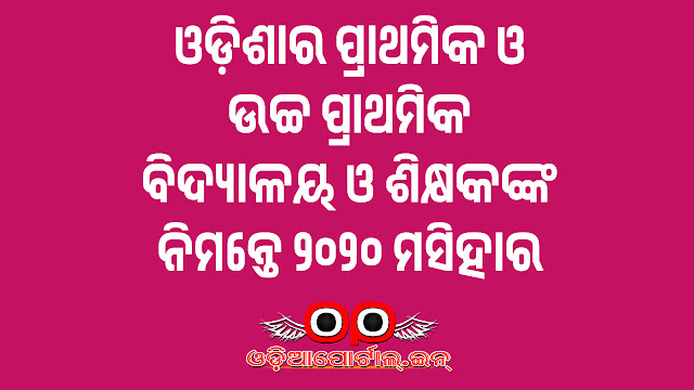 Official Holiday List for Elementary/Primary Schools of Odisha For the year 2020, HOLIDAY LIST FOR PRIMARY/UPPER PRIMARY SCHOOLS FOR THE CALENDAR YEAR 2020, Directorate of Elementary Education, Odisha during the calendar year 2020,  edodisha,  edespatch, opepa letter