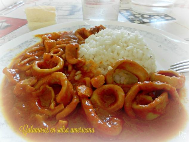 """Calamares en salsa americana"""