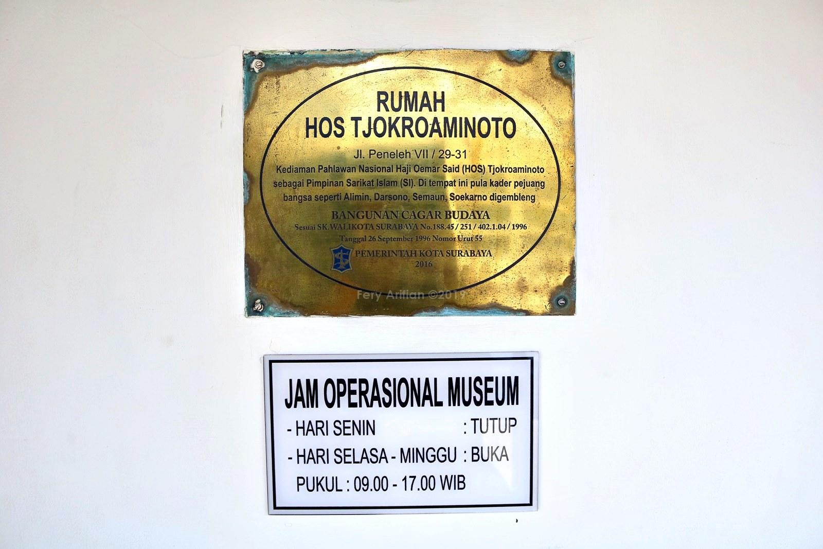 Rumah HOS Tjokroaminoto - Cagar Budaya Surabaya | Travel Blogger Malang
