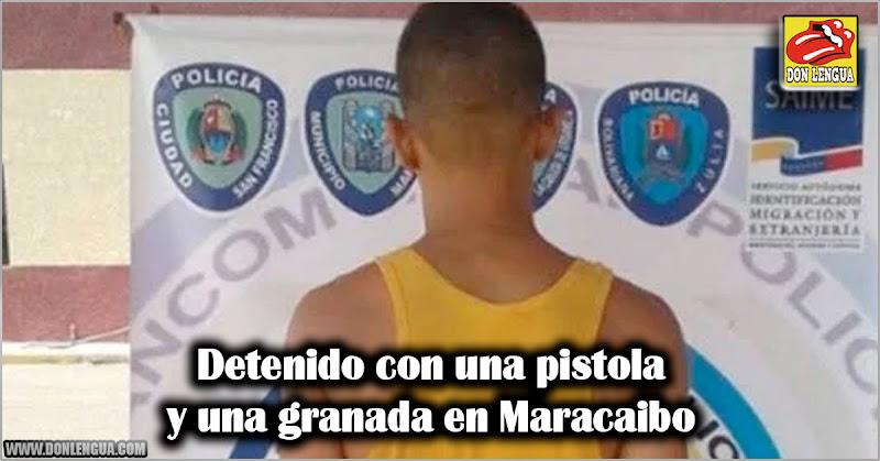 Detenido con una pistola y una granada en Maracaibo